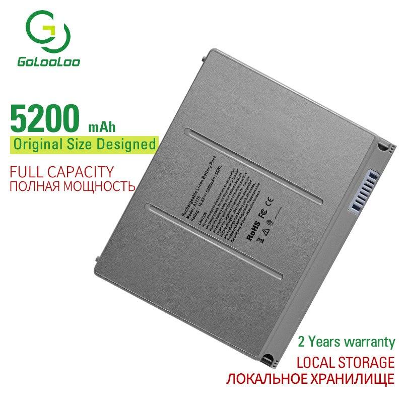 Golooloo 10.8v 5200mah/56wh Laptop Battery For Apple MacBook Pro 15 A1150 A1260 A1175 MA348 MA348*/A MA348G/A MA348J/A  MA463