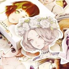 45 pçs/caixa bonito kawaii menina papéis adesivos flocos amor romântico para diário decoração diy scrapbooking adesivo