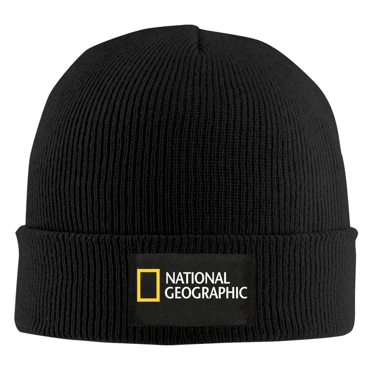 National Geographic LOGO Print Beanie men women Knit Cap Knitted Hat Skullies Warm Winter Unisex Ski Hip Hop outdoor Hat
