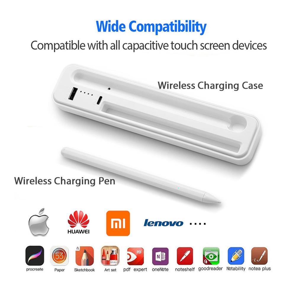 Active Stylus Supports Wireless Charging For Apple Xiaomi Huawei Samsung IPhone Tablet Smart Touch Pen