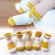 5 pares/lote bebê recém-nascido meias grossas inverno primavera outono quente bonito dos desenhos animados do bebê meninas menino meias moda quente macio algodão meias