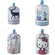 Диспенсер для воды с мультяшными животными, пылезащитный чехол, тканевый художественный чехол для питьевых фонтанов, бочки, защита для дома