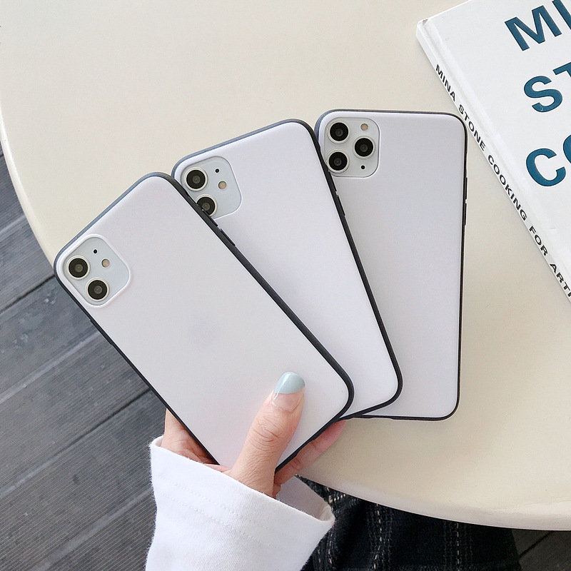 10pcs UV Oil Ink Printing TPU+PC blank white cellphone <font><b>cases</b></font> for <font><b>iphone</b></font> 11 pro 6 7 <font><b>8</b></font> plus xr xs max <font><b>case</b></font> DIY cover covers tok image