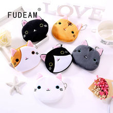 Coin Wallet Mini Bag Usb-Cable Animal Plush Zipper Soft Girl Cartoon Women Children Cute