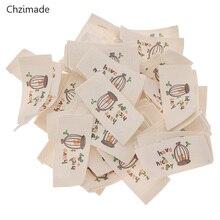 Lychee Life 50 шт./лот моющиеся тканые этикетки с мультяшной музыкальной птичьей клеткой для шитья этикетки для рукоделия материалы для рукоделия
