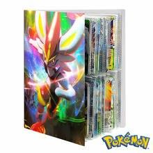 Album de cartes Pokemon, 240 pièces, cartes d'entraînement, livre de jeu, support de cartes, classeur, dessin animé, dossier à collectionner, liste chargée, jouet, cadeau pour enfants