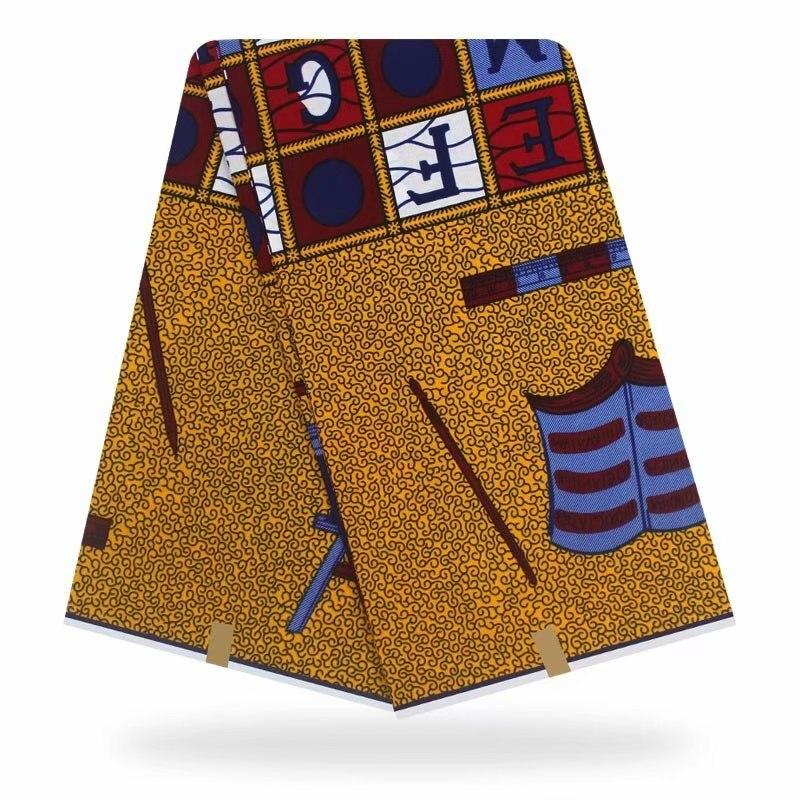 African Wax Print Fabric 24*24 Yarn 6 Yards Of African Fabric Nigeria Soft High Quality Ankara Wax Fabric For Women Dress