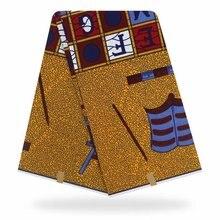 Африканский воск печать ткань 24*24 пряжа 6 ярды Нигерии мягкий высокое качество Анкара для женщин платье