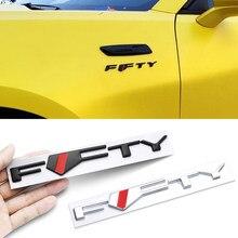 Logo de marque métallique 3D pour voiture, 50 ans, emblème FFTY, décoration extérieure pour accessoire Ford Chevrolet Camaro