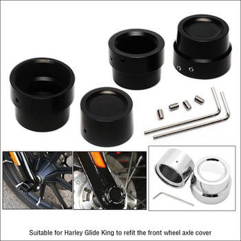 1 Pair Motorcycle Front+Rear Axle Cover Cap Nut Black CNC Aluminum For Harley Sportster XL883 XL1200 Softail Dyna