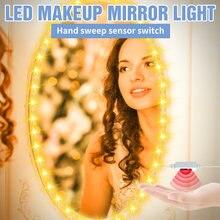 Светодиодный светильник для макияжа 5 м usb ручной датчик развертки