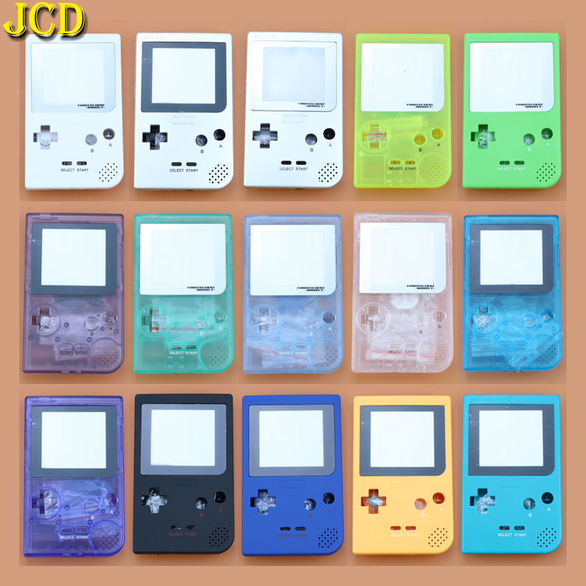 1PCS Plastic Full Case Cover Housing Shell Replacement For Gameboy Pocket Game Console For GBP Shell Case W/ Buttons Kit
