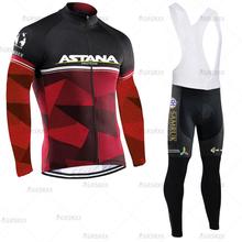 Zestaw koszulek rowerowych ASTANA Pro zespół rowerowy MTB Mountain Bike Bib strój sportowy z długim rękawem 2021 wiosenne ubrania do jazdy rowerem dla mężczyzn tanie tanio CN (pochodzenie) 100 poliester Polyester and Lycra Bezpośrednia sprzedaż z fabryki 80 poliestru i 20 materiału Lycra