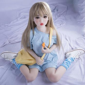 цена на Real Silicone Sex Dolls 125cm Japanese Anime Full Oral Love Doll Realistic Toys for Men Big Life Breast Sexy Mini Vagina Adult