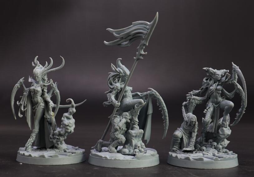 New Resin Figures Sexy Team 3pcs/set Model Kits