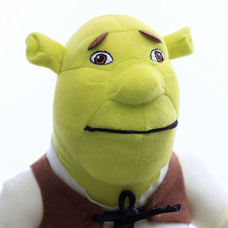 L/&R Peluche Shrek,mu/ñeca De Juguete De,Juguete De Navidad para Los Ni/ños 40cm//Verde