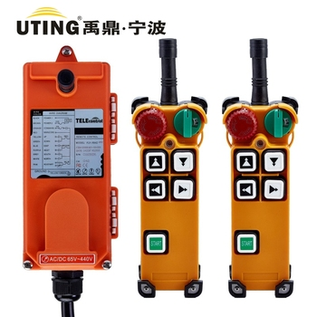 Telecontrol F21-4D industrial radio remote control AC/DC universal wireless control for crane 2 transmitter and 1 receiver
