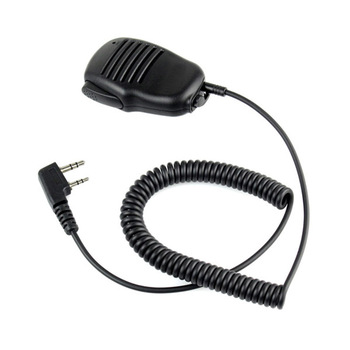 2 Pin Mini PTT Speaker MIC Walkie Talkie Accessories For Baofeng UV5R 888S For Kenwood For TYT Two Way Radio C9021A