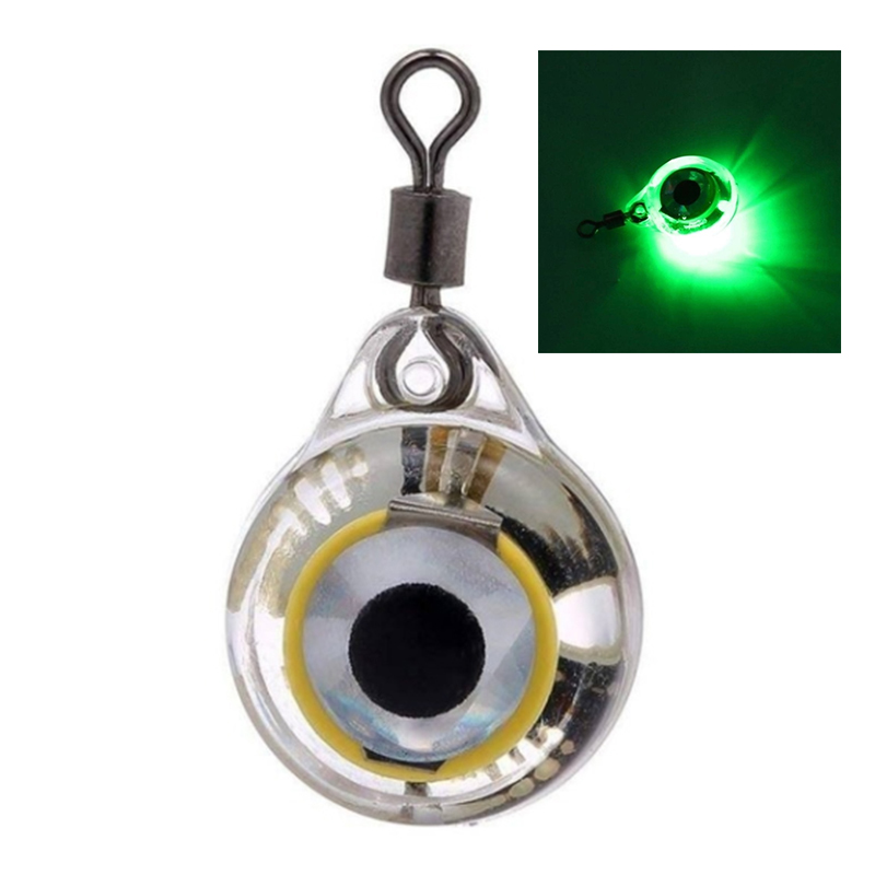 ABUI-Fishing Lights Night Fluorescent Glow LED Underwater Night Fishing Light Lure For Attracting Fish LED Fishing Supplies Gree
