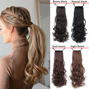 AILIADE Long Curly Hair Ponytail Clipped In The Hair Tail Wig Piece With Hair Clip Hair Extension Bandage Ponytail