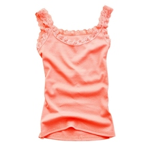 Women Top Multicolors Sleeveless U-neck Soft Vest Summer Fashion Casual Cotton Camisole Tops Women\s Sexy Lace
