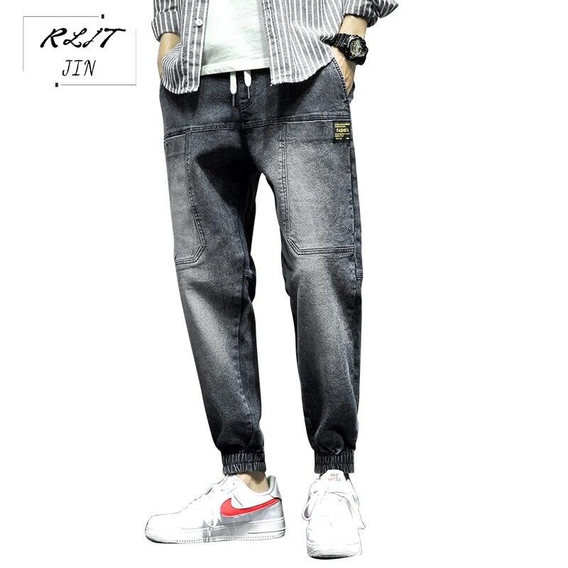 RLJT.JIN Trend Direction 2019 Japanese Super Popular Baggy Jeans Mens Youth High Quality Fashion Harem Pants