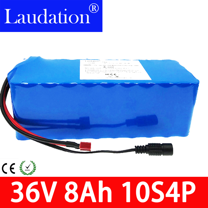 Laudation 36V battery 500W 18650 lithium pack 8AH With bms Electric bike with PVC case for electric bicycle