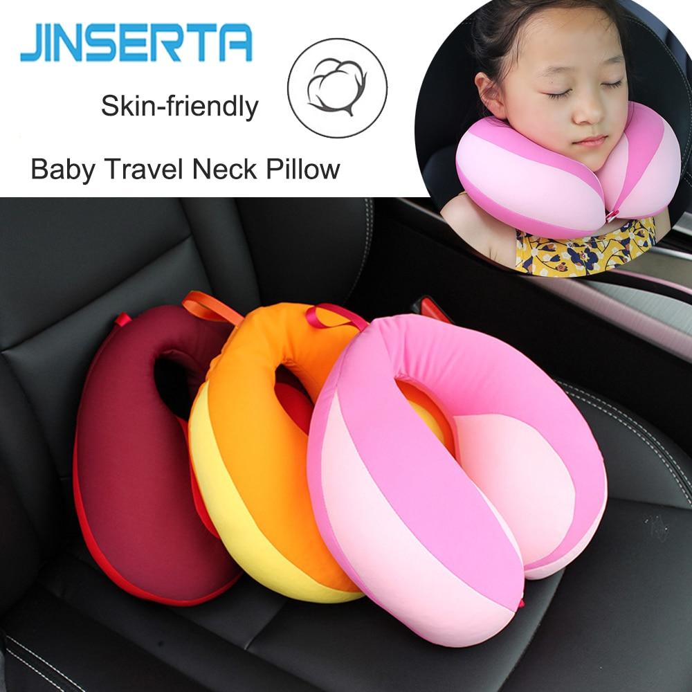 jinserta pillow kids newbron travel neck pillow u shape for car headrest air cushion child car seat head support infant baby