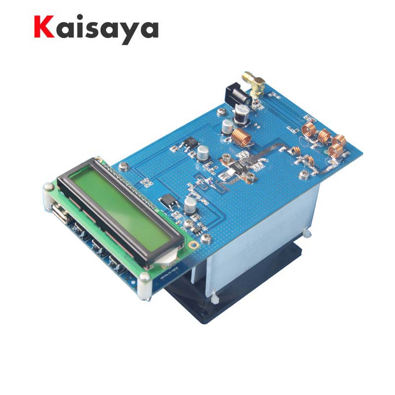 <font><b>50W</b></font> 87.5M-108MHz 12-13.8V PLL Stereo <font><b>FM</b></font> <font><b>Transmitter</b></font> Maximum to 70W Digital LED Radio Station module with heatsink fan H4-002 image