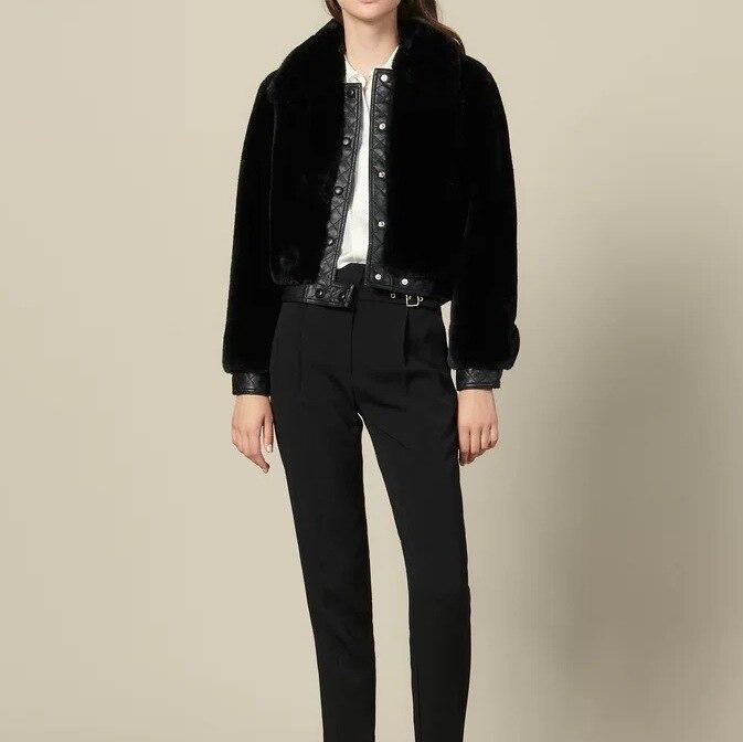 2019 Winter New Single Breasted Women Faux Fur Short Jacket Coat