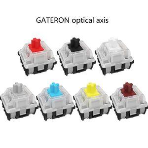 Оптический переключатель Gateron для замены оптического переключателя механическая клавиатура GK61 SK64 синий, красный, коричневый, черный, желты...