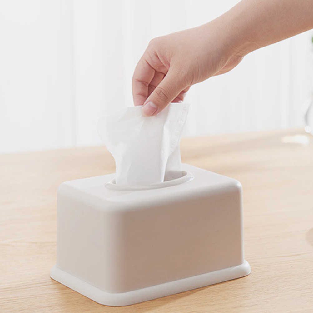 1Pc Napkin Case Plastic Durable Paper Towel Holder Storage Organizer Tissue Box
