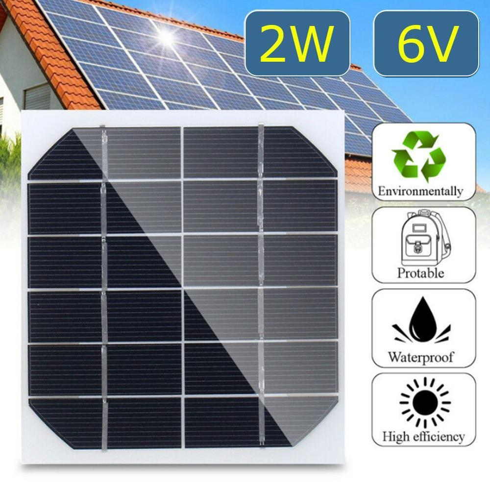 2W 6V Mini Solar Panel Cell Power Module 350mah For Battery Cell Phone Charger Light DIY Solar Toys