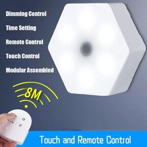 Image 2 - Диммируемая Светодиодная лампа для кухонного шкафа, пульт дистанционного управления, светодиодная лампа для шкафа для одежды, освещение для шкафа для спальни свет всё для кухни подсветка на кухню подсветка для кухни
