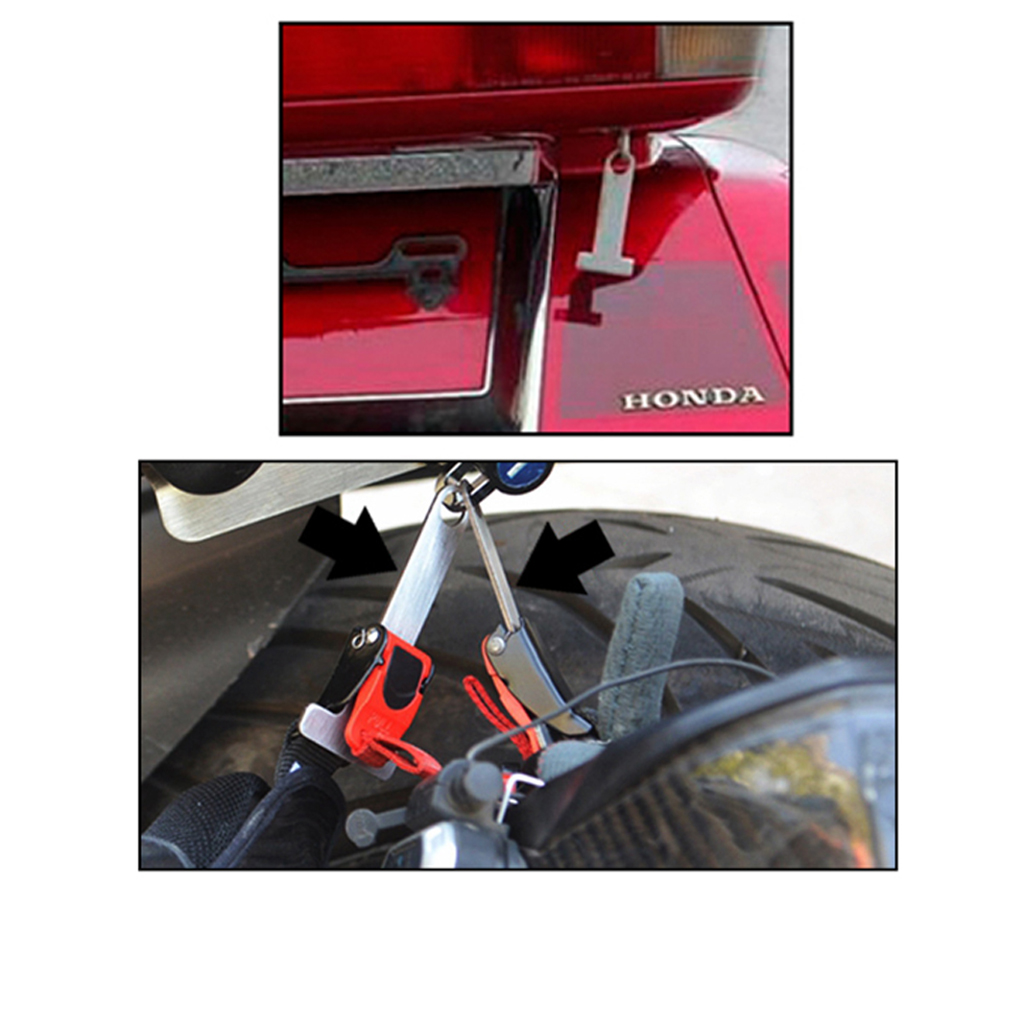 Motorcycle Open Face Helmet Lock Quick Release Buckle Fastener Secure Silver