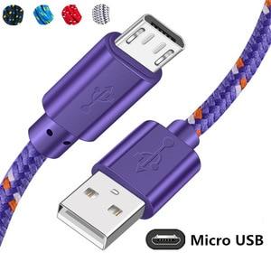 Плетеный Micro USB кабель Olnylo 0,5/1 м/2 м/3 м, кабель для синхронизации данных и зарядки USB для Samsung S7, HTC, LG, Huawei, Xiaomi, кабели для телефонов Android