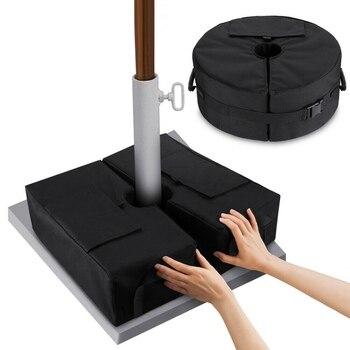 Открытый патио офсетные консольные зонты зонтик вес мешок всепогодный зонтик сверхмощный песок мешки подставка база