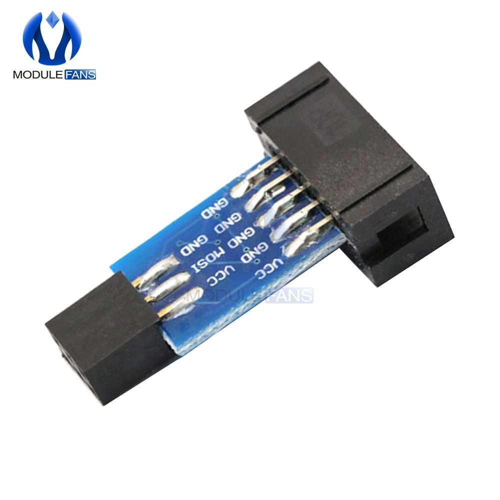 10-контактный конвертировать в Стандартный 6-контактный Адаптер доска + USBASP USBISP AVR программист USB Diy электронный модуль платы блока программного управления