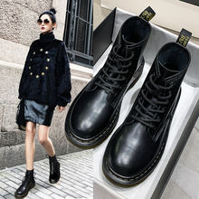 Новые женские Ботинки martin локомотивные короткие из натуральной