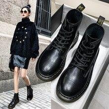 New Women Martin Boots Locomotive Short Genuine Leather Rubber British Style Retro
