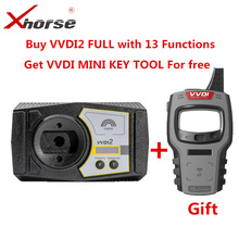 Xhorse VVDI2フルバージョンV6.7.5ためV W/アウディ/bmw/ポルシェ/psaプラスbmw fem bdc ID48 96bit ID48 obdii mqbすべての許可