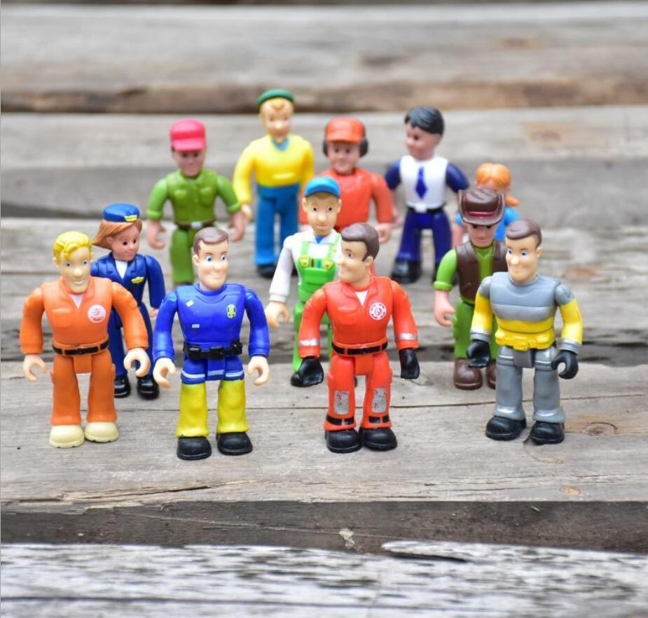 Anime Fireman Sam Figure Toy Sam Steele Penny Norman  Firefighters PVC Model Mini Kids Toy Dolls Collections Randomly Send