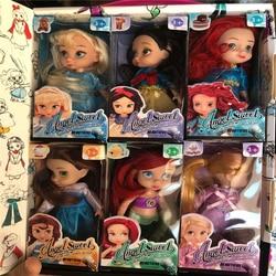 Кукла «Холодное сердце» Disney, сказочная принцесса, 6 шт./компл., Белоснежка, маленькая Русалочка, Анна, Эльза, кукла, экшн-фигурка, игрушка