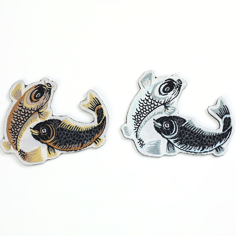 2019 New Fashion Accessories Embroidery Cloth Sticker Pisces Home Textile Patch Decoration 2 Color Spot
