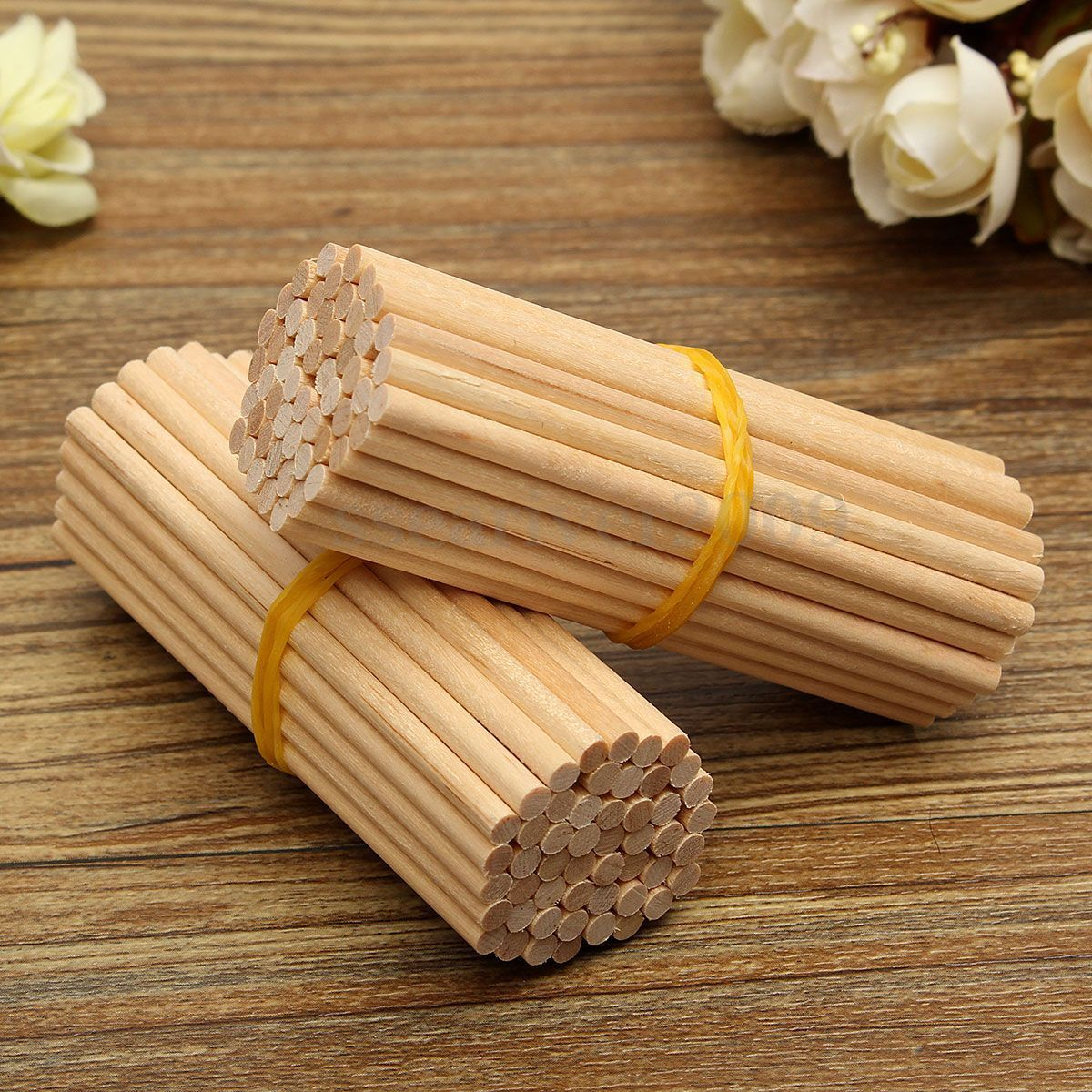 100Pcs 100mm X 3mm Round Wooden Lollipop Lolly Sticks Cake Dowel For DIY Food Crafts Gift Art