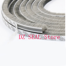 1 Meter Self adhesive window door seal strip draught excluder brush pile