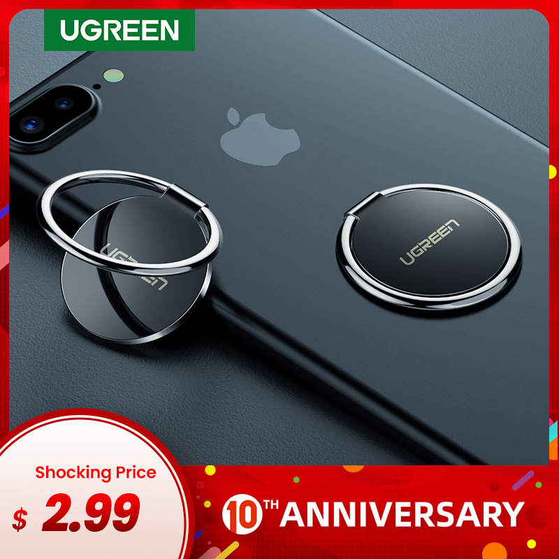 Ugreen Phone Ring Holder For Your Mobile Phone 360° Stand Ring On The Cellular Phone Support Telephone Stand Finger Ring Holder