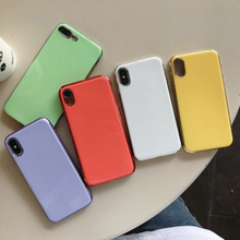 Luxury Plating Frame Soft Color Cases for iPhone 7 Plus 8 6 6s X XS Max XR Case Shockproof TPU Silicone Back Cover Capa