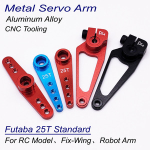 Aluminum Alloy Futaba JR 25T Standard Servo Arm Horn for 5.8mm Shaft Digital Servo JX SPT Deko DSSERVO KST GDW Servo