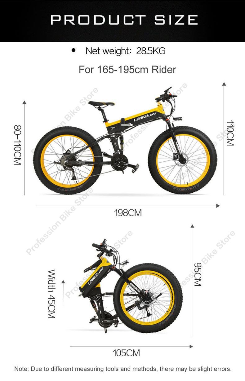 SMLRO S11 S11F S11-PLUS Electric Bikes 1000W 48V Fat 26 Inch Bicycle Ebike Mountain E Bike Foldable Motorcycle Mtb Cycling